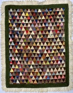 Silk Triangles Coverlet, c. 1850-1900