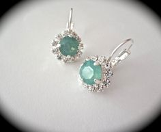 Bridal jewelry  Pacific opal  Crystal by QueenMeJewelryLLC on Etsy, $32.99