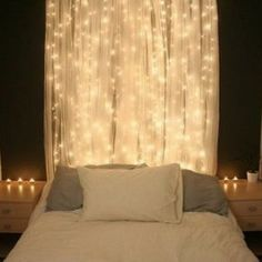 Decorative String Lights For Bedroom With Fabric , String Lights For Bedroom  In Interior And Decor