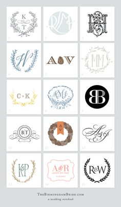 We love monograms in the south. They are a great way to brand your wedding and add consistency from the save the date and invite to napkins, koozies and cups at the reception. Here are a variety of monogram designs from our Birmingham Bride vendors. When deciding about your type of monogram make sure to …