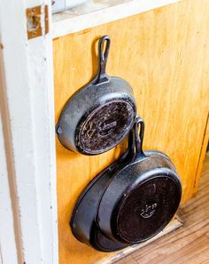 Why Chef Michelle Marek Stores Her Cast Iron Skillets on the Side of the Cupboard — Kitchen Tour