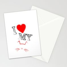 I Love My Cat Stationery Cards by RobozCapoz - $12.00
