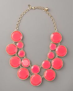 Kate Spade. Need I say more? Statement necklaces just add that finishing touch. And this shade of pink is divine.