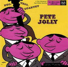 Pete Jolly record cover by Robert M. Jones (from Midcentury Modern Design, via Illustrated Gents)