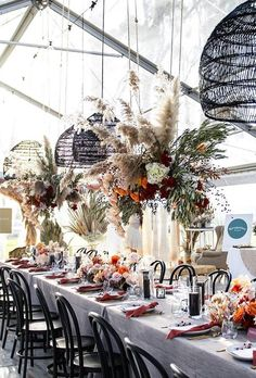 Wedding decor is the atmosphere of your holiday. Wedding dried flowers decor will give the wedding a special aesthetics, beauty and naturalness. Reception Table, Reception Decorations, Flower Decorations, Table Decorations, Wedding Tables, Wedding Receptions, Clear Marquee, Wedding Ceiling, Basket Lighting