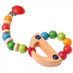 Wooden Rainbow Rattle Grimm's Spiel Und Holz Design GRI-08126 Kinuma.com