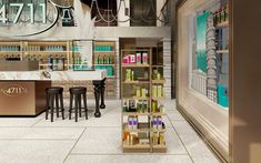 Product presenter designed by studio a. Aqua, Presents, Retail, Studio, Table, Furniture, Design, Home Decor, Modern Table