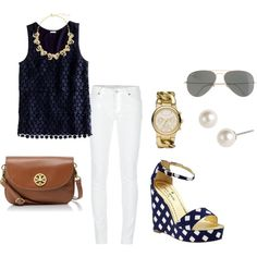lunch date by southern-prep on Polyvore (change the shoes to flats!)