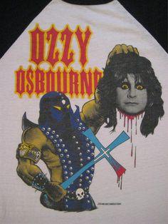 Original OZZY OSBOURNE vintage 1982 tour SHIRT jersey
