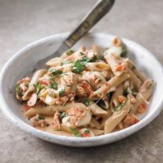 Whole-Wheat Penne #Pasta with Oil-Cured Tuna