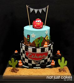 Disney Cars Cake - Looking for Cars Birthday Cake Ideas? See our photo gallery for inspiration and ideas. Disney Cars Cake, Disney Cars Party, Disney Cars Birthday, Disney Cakes, Car Themed Parties, Cars Birthday Parties, 3rd Birthday, Birthday Ideas, Cars Themed Birthday
