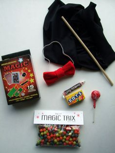 Magic Party ideas - A magical twist on the traditional goodie bags.