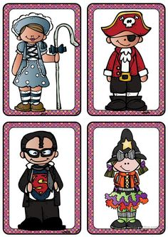 Kostüme 4 _Verkleidungen im Fasching/ Karneval bzw. zu Halloween_ Bildkarten (A6) Free Activities For Kids, Learning Games For Kids, Educational Games For Kids, Math For Kids, Masquerade Mask Template, Theme Carnaval, Coloring Games For Kids, Clown Crafts, Es Der Clown