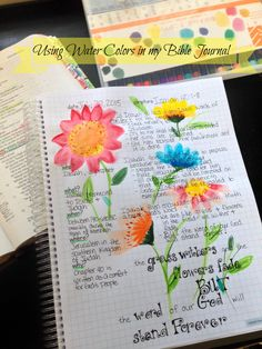 I used water colors in my Bible Journal for the first time today!  I LOVE how they provide the perfect backdrop for Isaiah's words of encouragement.  And the paper in my Farm Girl Bible Journal is 32 lb so bleed through is minimal. :)
