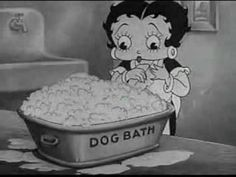 Betty Boop - A Little Soap & Water....glad we have dog groomers!
