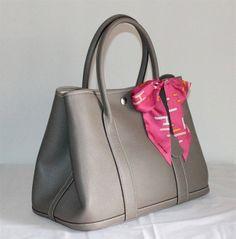 Hermes Garden Party Bag large sizes Gray H2808 - $218.00,Hermes ...