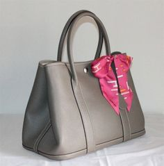 Garden Party Hermes bag with mini twilly My Hermes Pinterest
