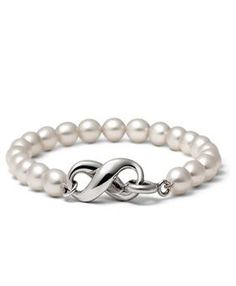 Cheap Tiffany And Co Outlet Cultured Freshwater Pearl Bracelet Great Quality | Tiffany Open Heart Bracelet Silver