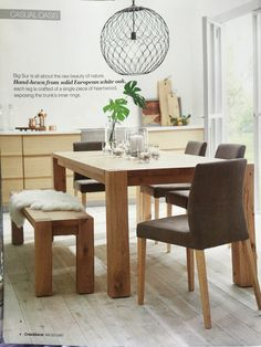 Big Sur Natural Dining Table - Crate and Barrel Dining Room Lighting, Dining, Natural Dining Chairs, Dining Table, Home Decor Crate, Walnut Dining Table, Dining Room Table, Dining Chairs, Dining Room Furniture