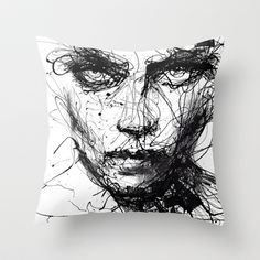 In trouble, she will. Throw Pillow by Agnes-cecile - $20.00