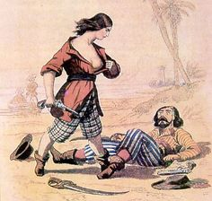 Mary Read: Infamous Pirate of the 1700's who spent most of her life on sea disguised as a man.,