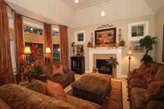 Savvy Seasons by Liz  Nothing like a warm feel in your family room