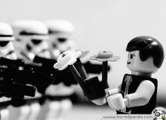 A Lego Starwars themed take on Marc Riboud's famous 1967 photograph taken at an anti-Vietnam protest in Washington.