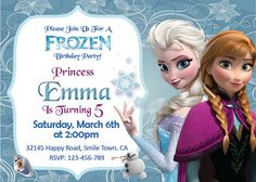 Hey, I found this really awesome Etsy listing at https://www.etsy.com/listing/177964534/frozen-invitation-disney-frozen-birthday