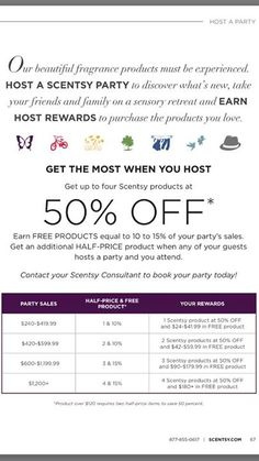 You Can Get Great Host Rewards When You Host A Scentsy Party