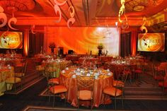 Check out that color! Love using lighting to warm up a room. It's  a wonderful and low cost decor item! This is from a recent event of ours! TeamESA