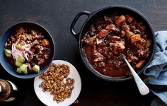 A warming beef chili gets serious depth from toasted chiles and a touch of sweetness from squash.