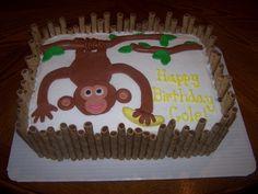 Heather Calvin Cakes Monkey Birthday Cake