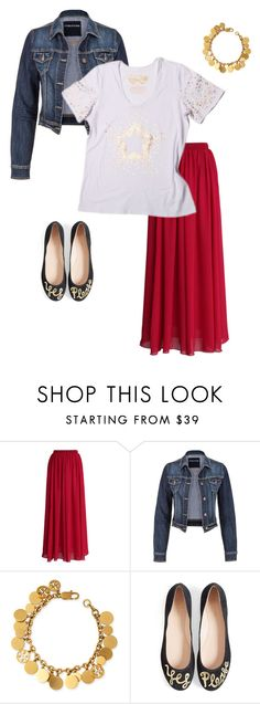 Stellarbration | Ruby & Lilli by rubyandlilli on Polyvore   Who said tee shirts are solely casual? Give your Ruby & Lilli tee some VA VA VOOM knotted over a bold maxi skirt and with some glam accessories. Add a cropped jacket for warmth this Autumn.  We bring you style inspiration for every season and occasion as each Ruby & Lilli tee and top is so versatile you can wear it every month of the year!  (Head to our Polyvore account to see where items OTHER than R&L are from)   xx