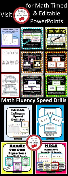Visit Gotta Luv It Creations Teachers Pay Teachers store for math fluency products.  Follow my TPT store to be notified when new products are released to get 20% off for the first 24 hours.