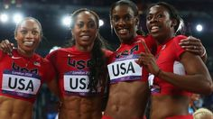 The United States won their fifth successive Olympic gold in the women's 4x400m.