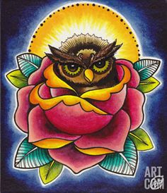 """Owl and Rose"" par Brittany Morgan"