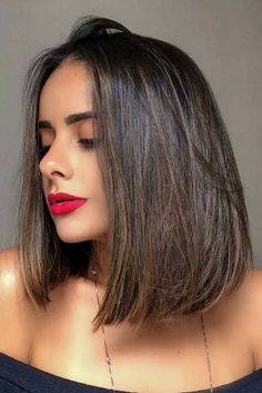 42 Suggestions For Dark Brown Hair Color , Smokey Dark Brown Hair Balayage ❤️ Dark brown hair color looks very mysterious, and it's quite trendy these days. One can play with various. Face Shape Hairstyles, Round Face Haircuts, Haircuts For Long Hair, Hairstyles For Round Faces, Cool Hairstyles, Formal Hairstyles, Short Haircuts, 1920s Hairstyles, Hairstyle Men