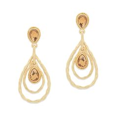 The lovely Claudette earrings combine the earthiness of hammered, matte finish with the irresistible sparkle of lush topaz. This teardrop two drop pair will elevate countless closet choices, and transition seamlessly from day to evening.  FInd it on Splendor Designs