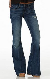 American Eagle Denim X Boho Artist Flare Jeans ($55) ❤ liked on ...