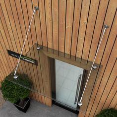 Glass Door Canopy Satin Finish Grade 316 Stainless Steel Tie Rods TYPE: P