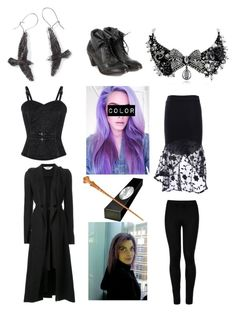 """""""Cosplay Tag #5- Tonks"""" by thesweetdangerparade ❤ liked on Polyvore featuring Kitx, Wolford, H by Hudson and Betsey Johnson"""