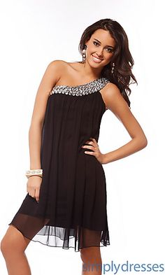 Dress for wedding Black Beaded Dress by Scala 47147 at SimplyDresses.com