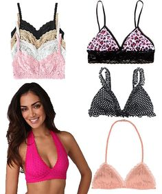 """Bralettes - I love them!  Wear under sheer tops, low cut or in place of a tank or cami to add some """"pretty"""" to your summer wardrobe."""