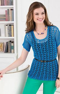 Free pattern Ravelry: Breezy-T pattern by Brenda Bourg