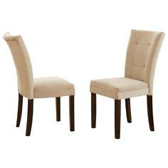 #Houzz - #Steve Silver Co. Matinee Beige Chairs, Set of 2, Beige - AdoreWe.com