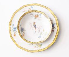 Theodore Haviland Limoges Salad Plate Birds Blois Pattern | Antique ...