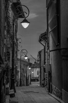 bw narrow street Constanta, Romania by steffansphoto.deviantart.com on @DeviantArt