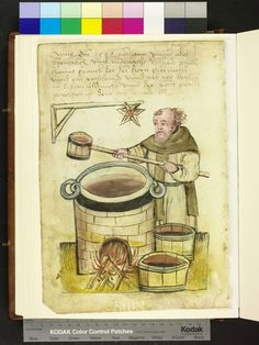 Brew taster, ca. 1506. Note the Brewer's hexagram.  http://www.nuernberger-hausbuecher.de/75-Amb-2-317-125-v/data
