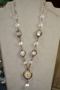 Old watches. look for grandmothers old watches and make a memory necklace or bracelet Old watches. look for grandmothers old watches and make a memory necklace or bracelet Vintage Jewelry Crafts, Recycled Jewelry, Old Jewelry, Jewelry Art, Antique Jewelry, Beaded Jewelry, Handmade Jewelry, Jewelry Design, Vintage Jewellery