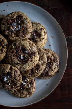 Brown Butter Chocolate Maple Pecan Cookies